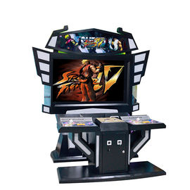55 LCD Multi Video Arcade Machine, Kabinet Sistem Video Game Coin Pendorong