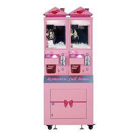 Pink Toy Crane Machine, Romantic Full House Luxury Boutique Mini Toy Catching Machine