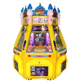 6 Pemain Dream Castle Pinball Game Machine Pendorong Koin Logam + Bahan Akrilik + Plastik