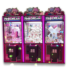 Mesin PVC Bahan Dream Doll Claw Dengan Mesin LED Light / Arcade Crane